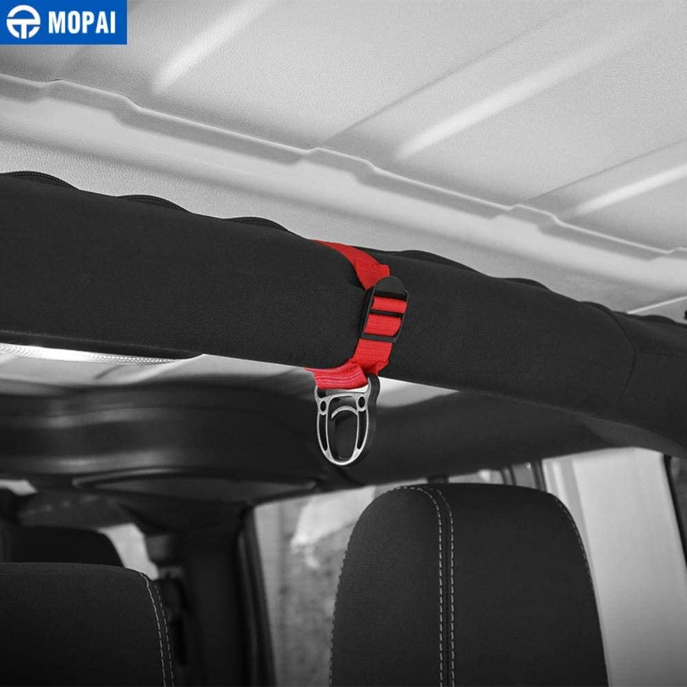 Mopai Car Coat Hanger For Jeep Gladiator Jt 2018 Car Coat Hook Stand Accessories For Jeep Wrangler Tj Jk Jl 1997-2018,Black 1 Pcs