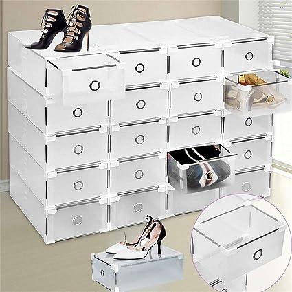 Clear Shoe Storage Boxes.Yiyiby 20 X Clear Shoe Storage Shoe Box Storage Boxes Transparent Plastic Shoe Boxes Shoe Box Stacking Box Shoe Box Storage Box