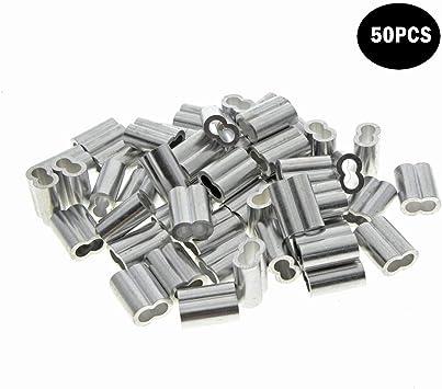Kitchen-dream Correa de aluminio para cable y cable de 1,5 mm