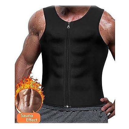 c0488a292 Idol Men Waist Trainer Vest for Weightloss Hot Neoprene Corset Body Shaper  Zipper Compression Oversize Sweat