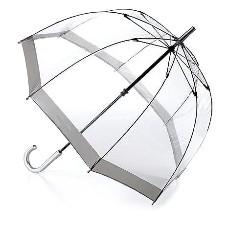 Fulton Birdcage - 1 domo transparente paraguas frontera de plata - Nuevo marco!