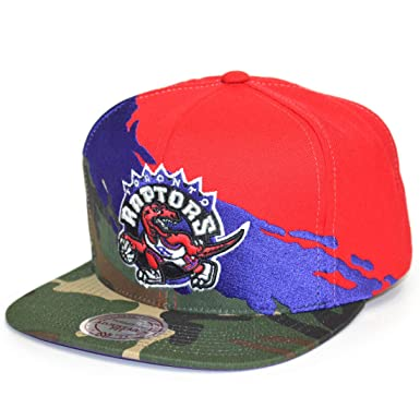 3349ee4a64697c Mitchell & Ness Snapback Cap Paintbrush Toronto Raptors Camo Red ...