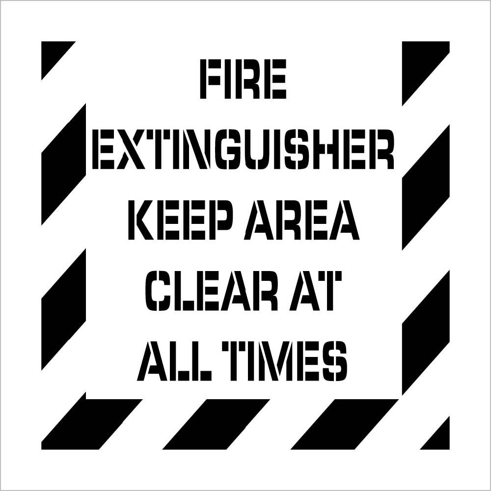 National Marker Corp. PMS233 Fire Extinguisher Plant Marking Stencil