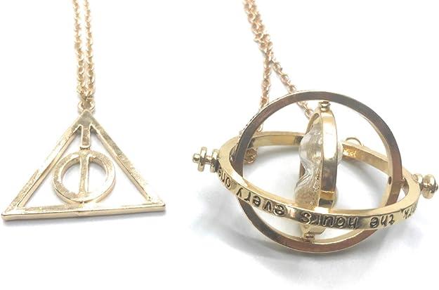 Katessen Reloj Colgante de Metal Collar Reloj de la Muerte Hermione Granger Harry Potter