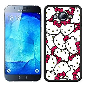 Cheap Abstract Samsung Galaxy A8 Case,Hello Kitty 58 Black New Custom Design Samsung Galaxy A8 Cover Case