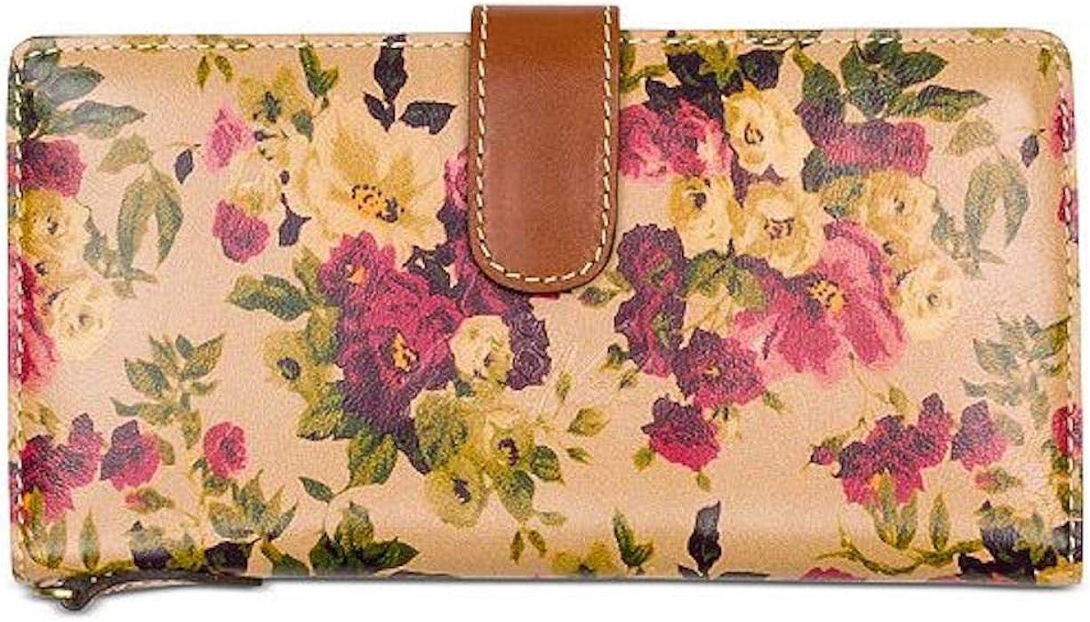 Patricia Nash Antique Rose Floral Leather Valentia Wallet