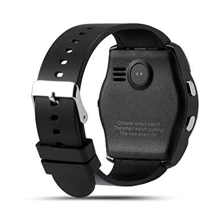 Hinmay V8 Bluetooth Smartwatch podómetro, tarjeta SIM GSM Smart Watch Reloj de salud Fitness pulsera podómetro para iPhone Android, 0.02, color negro: ...