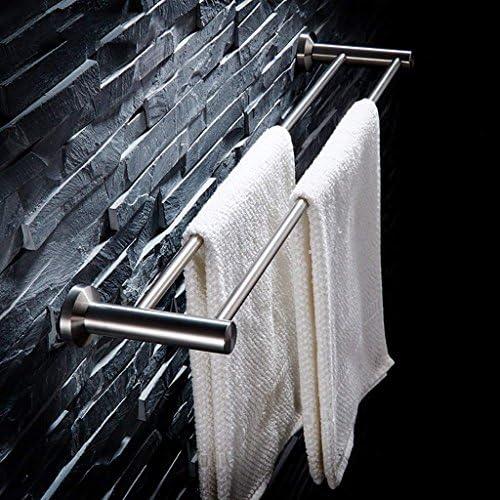 バスルームタオルバー304ステンレス鋼ダブル、タオルラック、バスルームの棚(サイズ:70 cm)