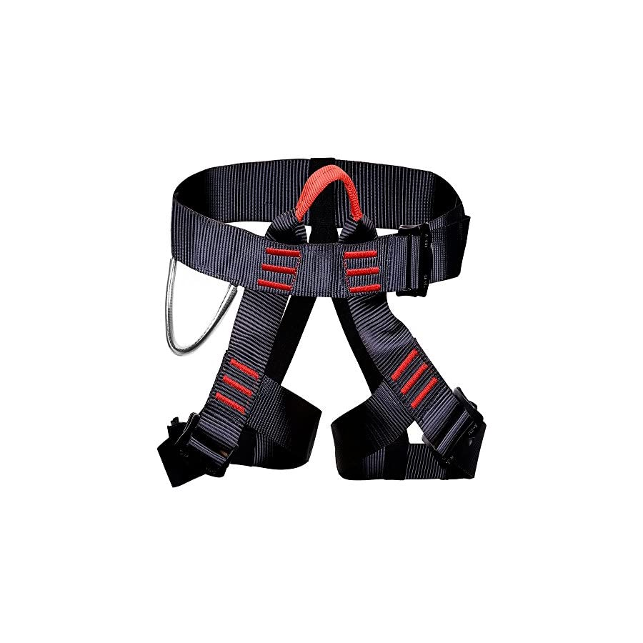 Kurun Climbing Harness Safety Seat Belt For Mountaineering Fire Rescue Rock Climbing Gym Reppelling Women Men Child Half Body Guard Protect Harness