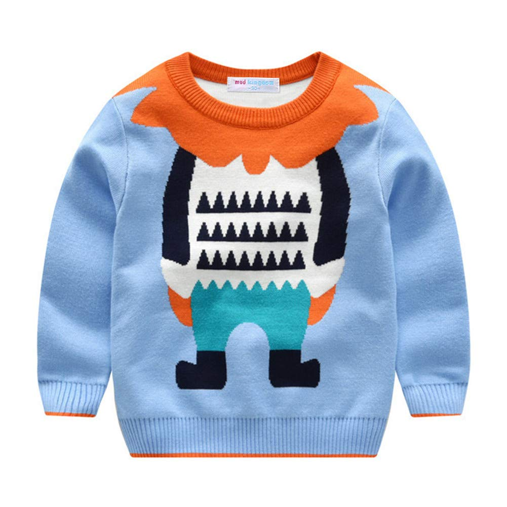 Mud Kingdom Kids Sweaters Christmas Deer Knit Pullover