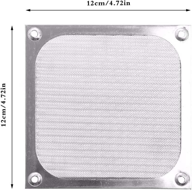Blade Color: Silver 12cm Rarido Metal Dustproof Mesh Dust Filter Net Guard 12cm//9cm//8cm for PC Computer Case Cooling Fan New ping-PC Friend