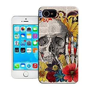 Unique Phone Case Skeleton skull head arts map Vintage Book Print - Skull flower collage Print on Vintage Book Hard Cover for 5.5 inches iphone 6 plus cases-buythecase