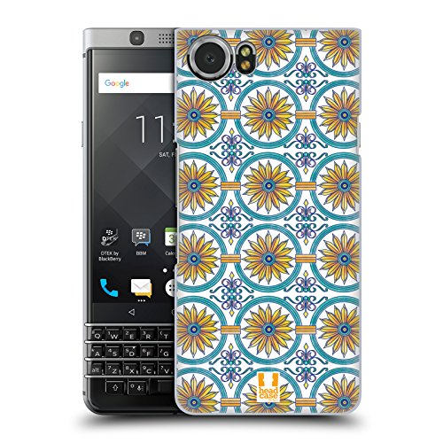 Head Case Designs Floral Circle Majolica Print Hard Back Case for BlackBerry KEYone / Mercury (Berries Majolica)