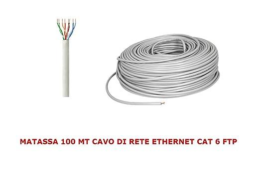 5 opinioni per MATASSA 100 MT METRI CAVO DI RETE FTP CAT 6 LAN ETHERNET M BOBINA INTERNET ADSL