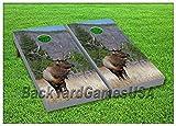 corn bags for hunting - Cornhole Boards w Bags Elk Deer Hunting Corn Hole Beanbag Game Realtree Set 12