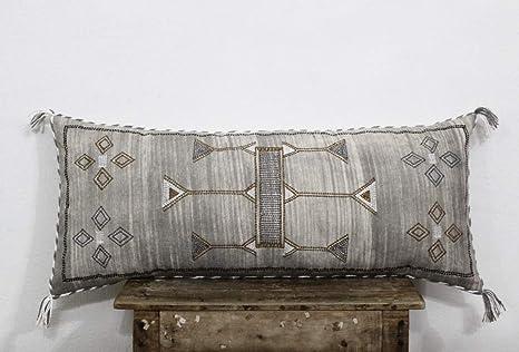 Amazon.com: Funda de cojín de seda marroquí para sofá de ...