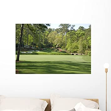 Amazoncom 12th Hole Augusta National Wall Mural by Wallmonkeys