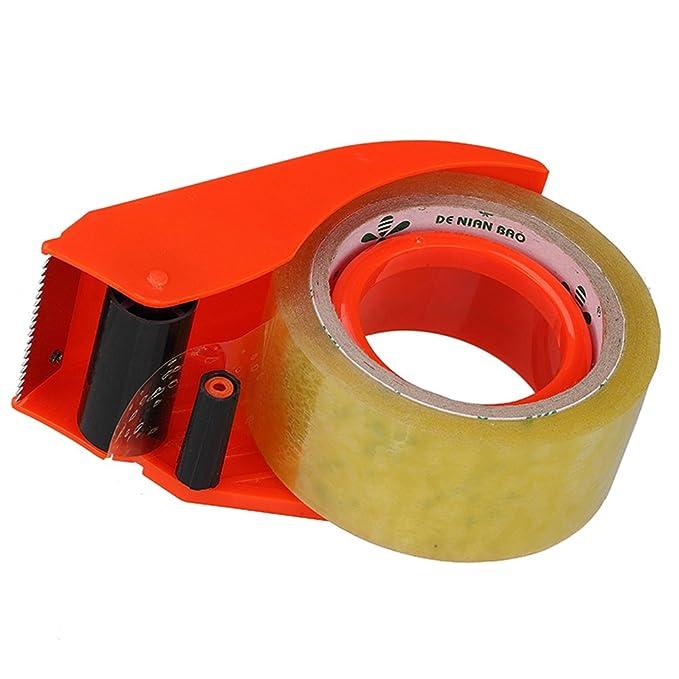 MyLifeUNIT dispensador de cinta de embalar con cortador, rojo: Amazon.es: Oficina y papelería