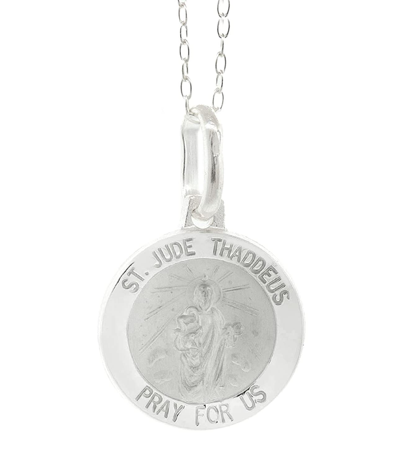 Sterling Silver St Jude Pendant 18 Chain