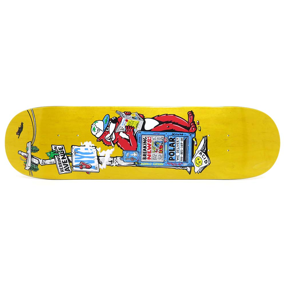 【待望★】 POLAR DECK ポーラー デッキ AARON AARON HERRINGTON B07R7KVRB4 BREAKING NEWS YELLOW STAIN STAIN 8.0 スケートボード スケボー SKATEBOARD B07R7KVRB4, 食べごろBIZ:3de62f77 --- domaska.lt