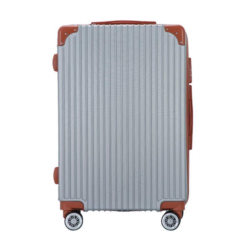 学生トロリーボックス24インチ男性と女性垂直ジッパー荷物20インチユニバーサルホイールビジネス搭乗 (Color : グレイ ぐれい, Size : 24 inch)   B07RH6D6DT