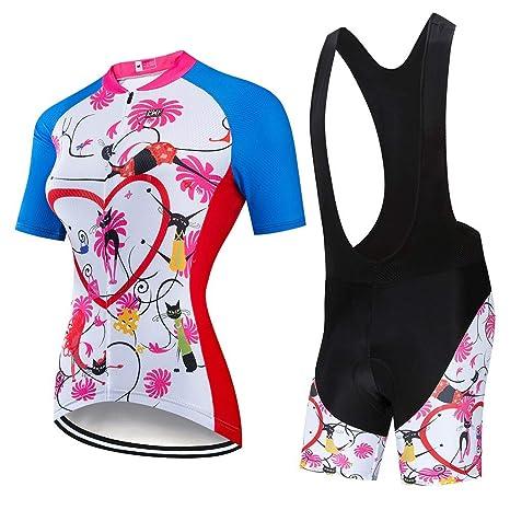 Traje de jersey de ciclismo para mujer Traje de ciclismo de ...