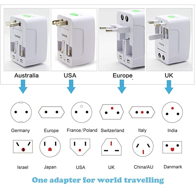 Esellers - Adaptador de corriente universal para viaje, enchufe de pared para Samsung, iPhone, LG, HTC, Nokia, tableta, Kindle, etc.: Amazon.es: Electrónica