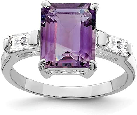Sterling silver Amethyst ring-Gemstone ring Gifts for her stacking ring Promise Ring birthday gift ring 925 silver ring Statement ring