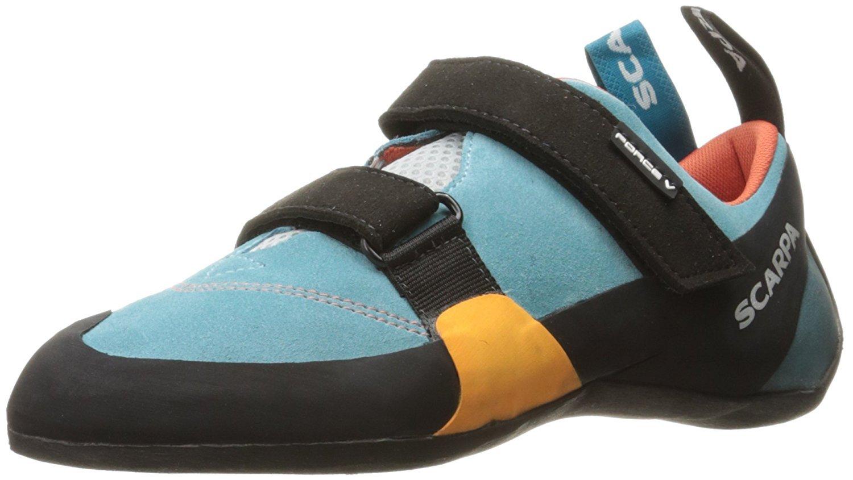Scarpa Women's Force V Climbing Shoes Ice Fall/ Mandarin Red 38.5 & Glove Bundle by SCARPA (Image #1)