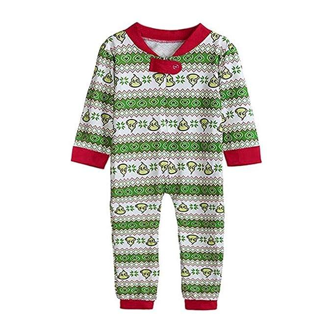 Xinvision Navidad Familia Conjunto de Pijamas Monos - Navidad Impreso Mono Padre-Hijo Bodysuit Familia