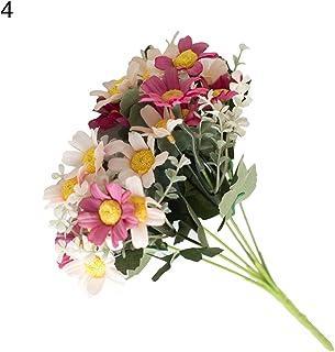 quanjucheer 1bouquet di fiori artificiali Coreopsis plastica falso pianta Home Office decorazione, Rose Red, 29cm