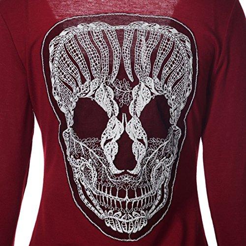 erdbeerloft - Camiseta de manga larga - Opaco - para mujer burdeos