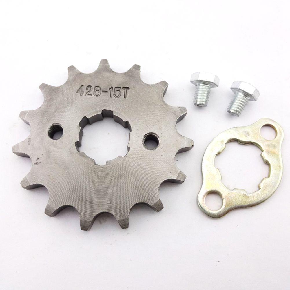 Stoneder 428/15/dents avant de 20/mm Pignon de cha/îne Gear pour 50/cc 70/cc 90/cc 110/cc 125/cc 140/cc 150/cc 160/cc Engine ATV Quad Pit Dirt Trail Bike