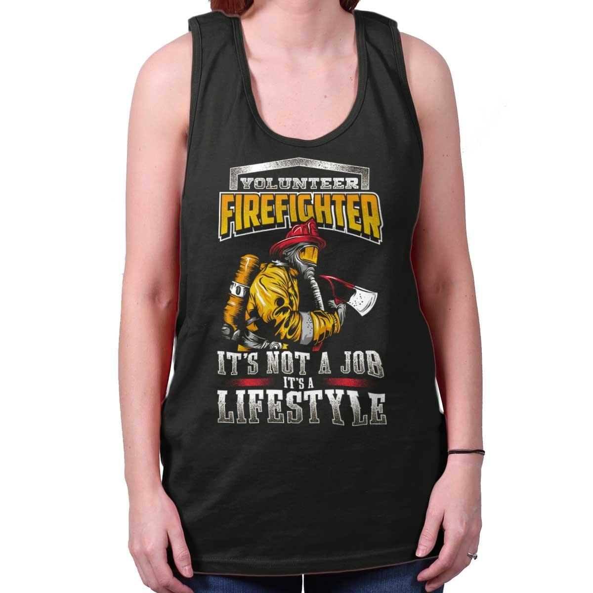 Volunteer Firefighter Not Job Lifestyle Tank Top