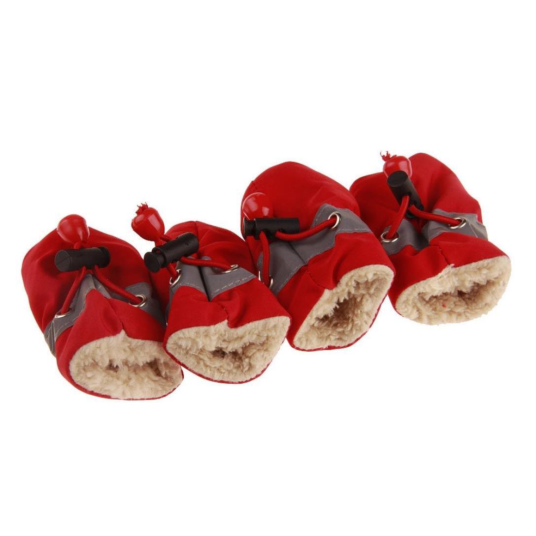 Amazon.com: Transer Dog Shoes, Anti-Slip Sole Soft Cashmere Warm Snow Boots Paw Protectors For Pet Puppy Labrador Husky 4 Pcs: Clothing