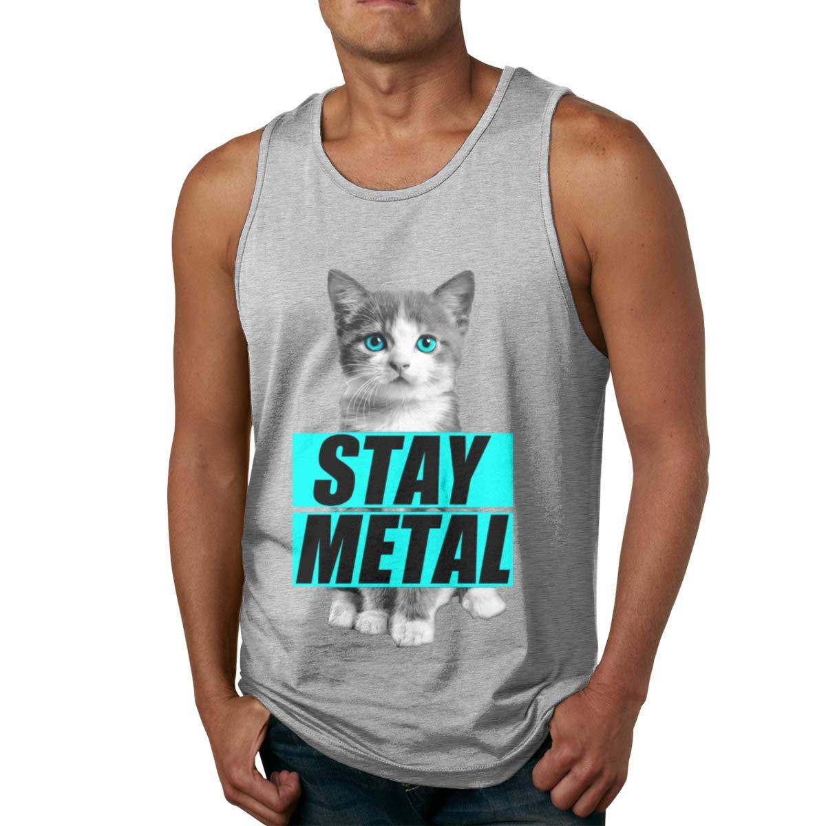Seuriamin Stay Metal Cute Cat S Funny Tennis Sleeveless Tank Top T Shirt