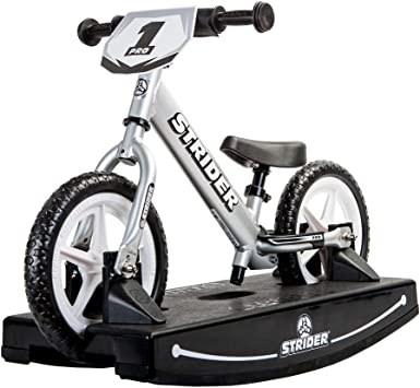 GREEN STRIDER 12 SPORT BALANCE BIKE AND ROCKER BASE COMBO AGES 6 MONTHS AND UP