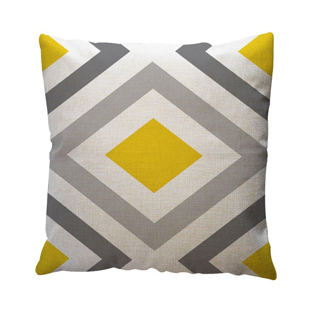 Chenway Geometric Pattern Pillow Case,Hidden Zipper Cushion Decoration CaseCover for Sofa Livingroom Home Decor (B)