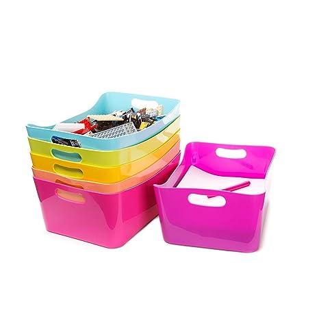 Plastic Bins   For Organizing Toys Or Closet. Kidu0027s School Storage Bins  With Handles.