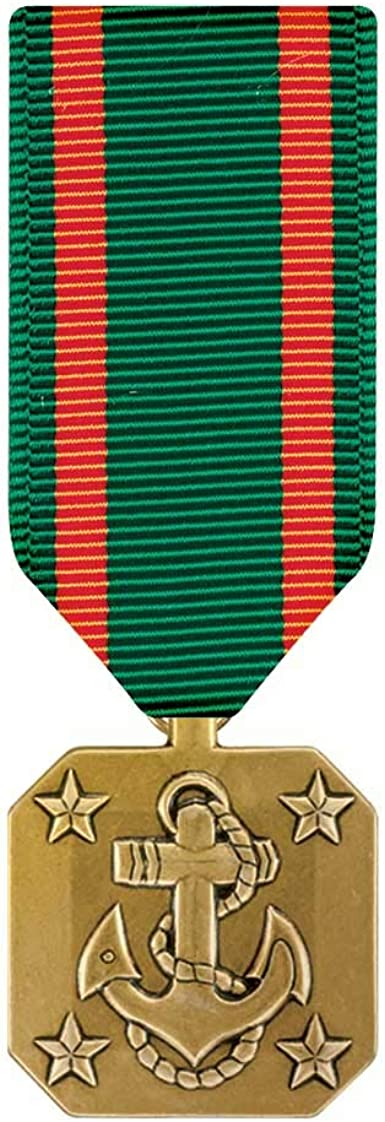 Ribbon als Miniatur US Navy and Marine Corps Commendation Medal  Lapel Pin