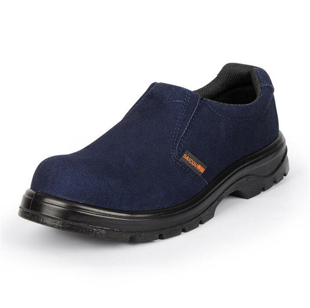 Hombre Verano Puntera de acero Trabajo respirable Anti estático Ligero Zapatos de seguridad talla 36 a44 , blue , EU40 EU40 blue