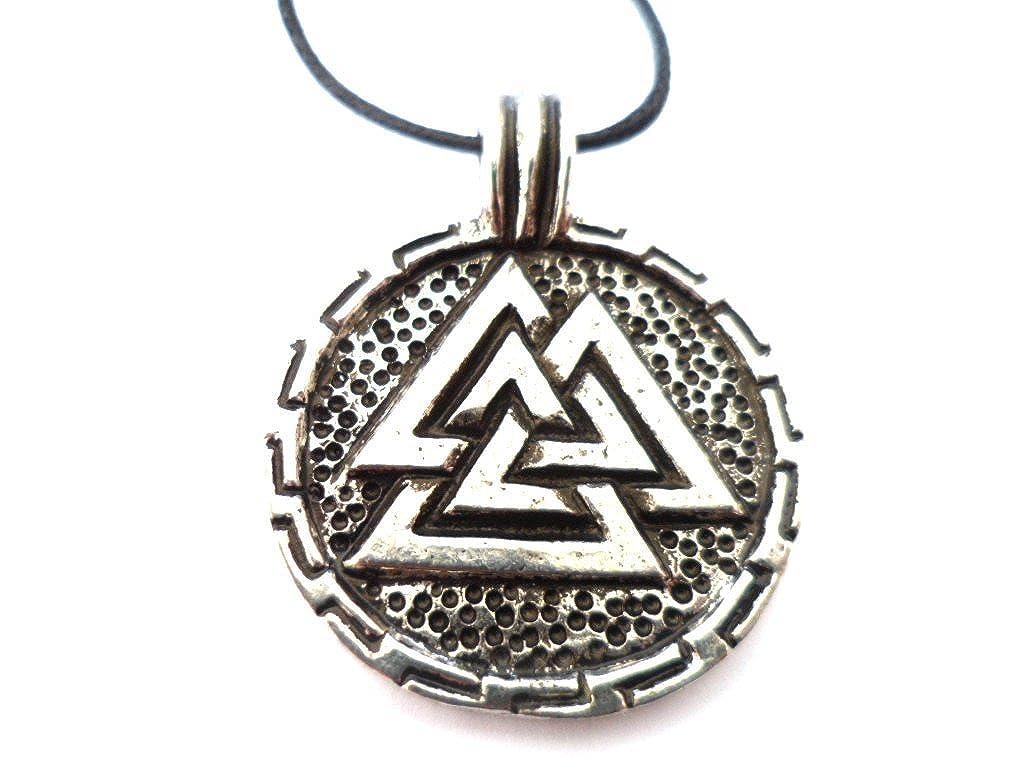 Round Valknut Pewter Pendant Symbol Of Odin Amazon Co Uk