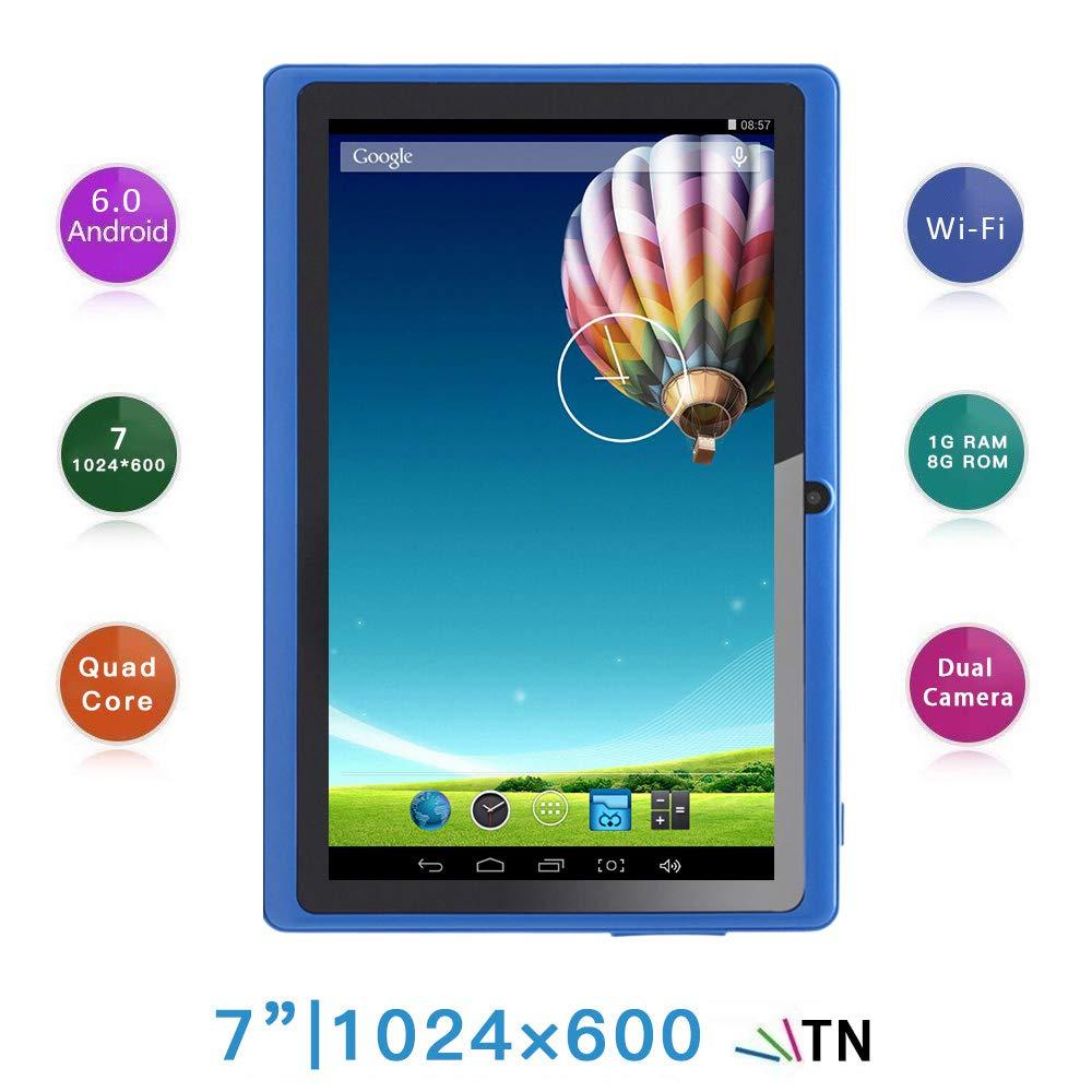 Haehne 7 Pollici Tablet PC, Google Android 6.0 Quad Core, 1GB RAM 8GB ROM, Doppia Fotocamera 2.0MP+0.3MP, 1024x600 HD Schermo, WiFi, Bluetooth, Blu Shenzhen Haina Tianyuan Ecommerce Co. Ltd. HN-PC-NQ8