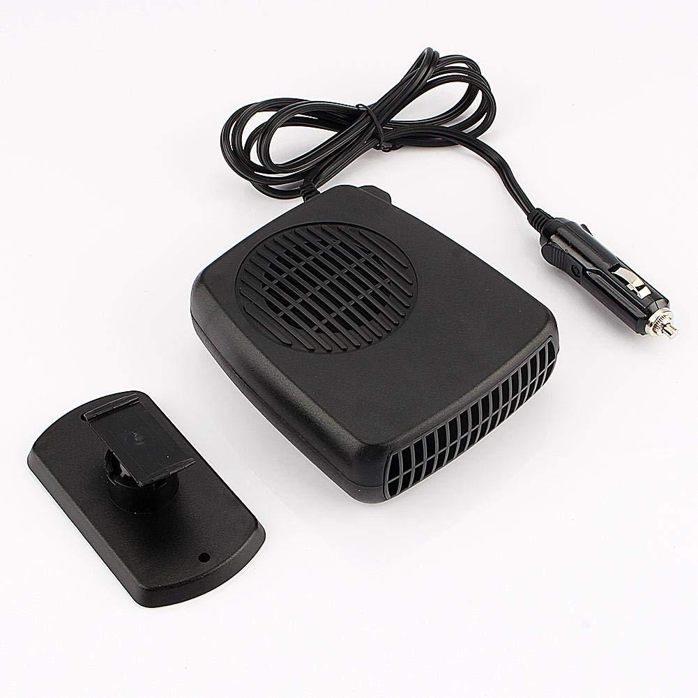 Banucky Portable Car Heater,Fast Heating Quickly Defrosts Defogger 12V 150W Auto Ceramic Heater Cooling Fan 3-Outlet