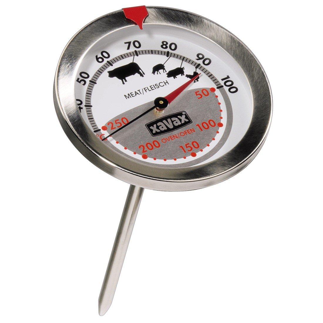 Xavax 2-in-1 Bratenthermometer aus Edelstahl*