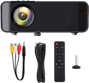 Opinión sobre Proyector 3D, Proyector de cine en casa con imágenes reflejas difusas LCD de alta definición 1080P, compatible con AV/USB/Tarjeta de memoria Secure Digital o Lectura de tarjeta TF/HDMI/VGA(Negro)