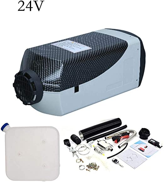 et 5KW 24V Diesel Air Heater LCD Muffler For Truck at Remote control Tank