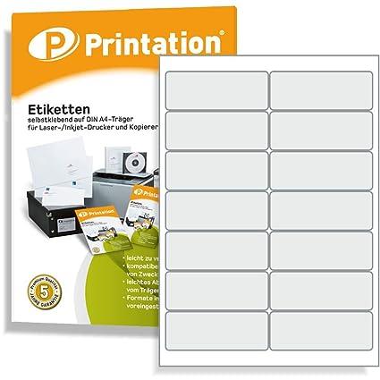Etiquetas 99,1 x 38,1 mm, autoadhesiva, color blanco - stampit Adecuado - 1400 STK 100 A4 hojas 2 x 7 L7163 4678: Amazon.es: Oficina y papelería