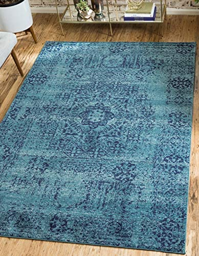 Unique Loom Tradition Collection Classic Southwestern Turquoise Area Rug 9' 0 x 12' 0