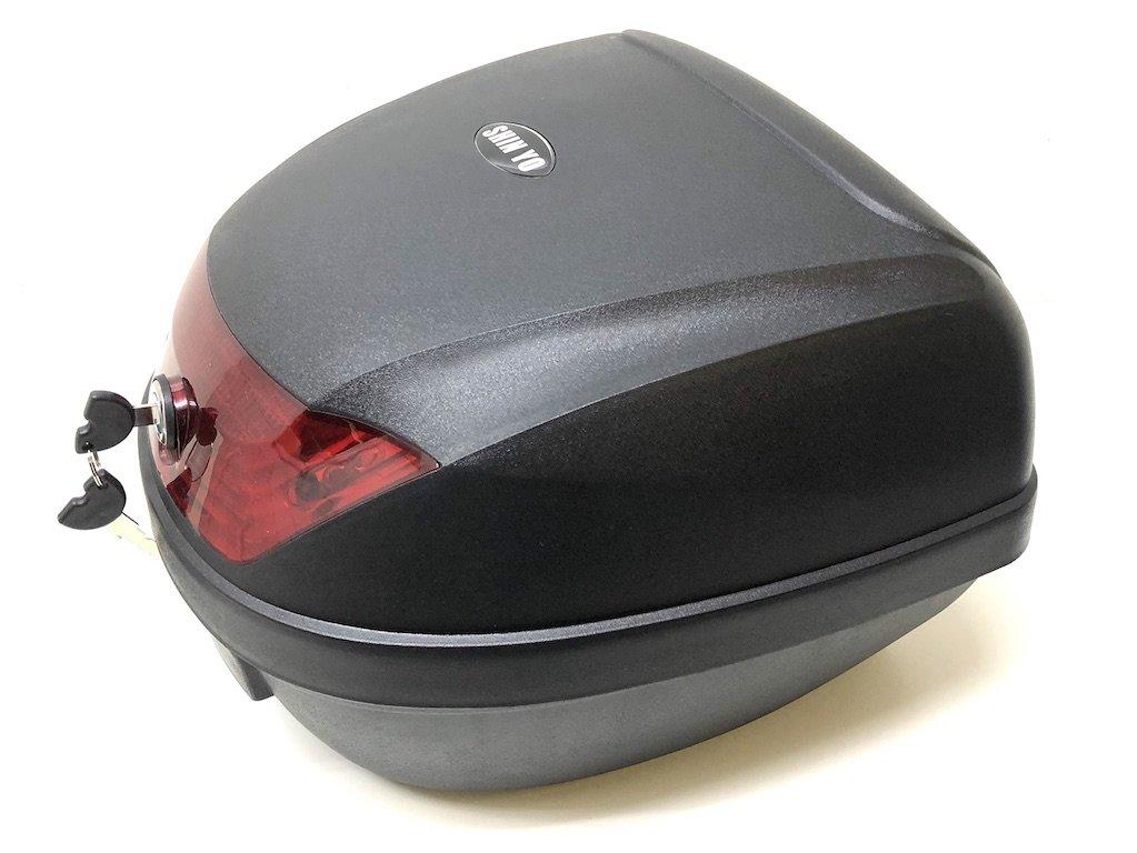Top Case Topcase Cae Koffer ROME 28 l f/ür Roller u Motorrad schwarz